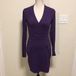 Athleta purple long-sleeve dress, size XXS